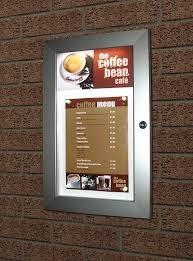 illuminated menu display case