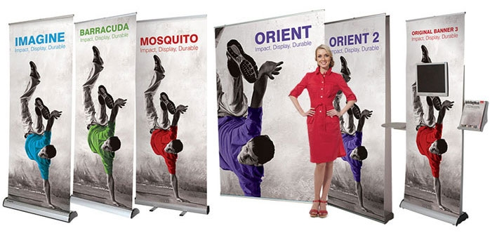 roller banner stands Red17 collection