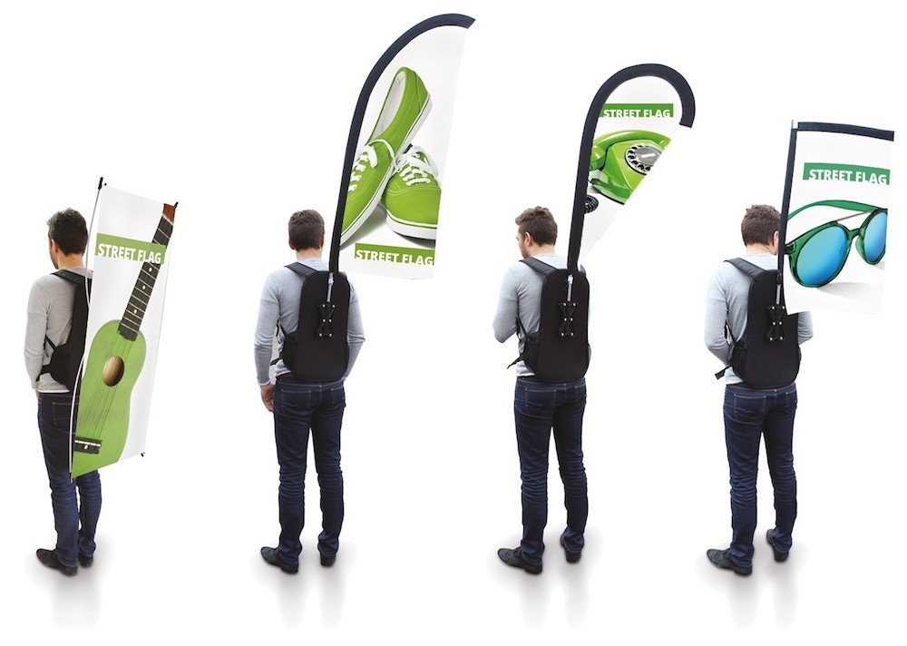 Portable Back-pack Street Flags