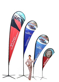 Easy to assemble flag banners