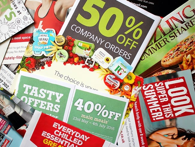 Leaflets advertise business