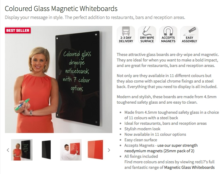 Coloured Glass Whiteboards