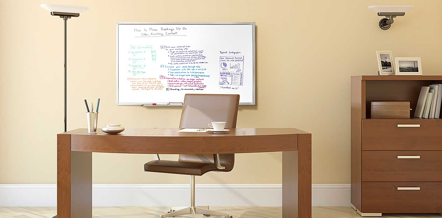 Magnetic Whiteboard in Office
