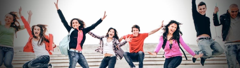 School Students Happy