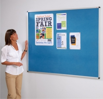 Aluminium framed school notice board