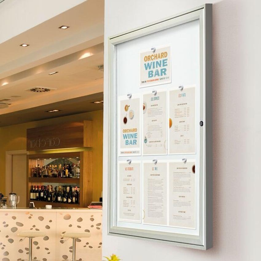 Menu Cases can be used indoors too