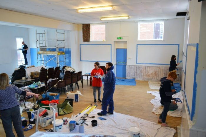 Classroom Revamp in School with volunteers