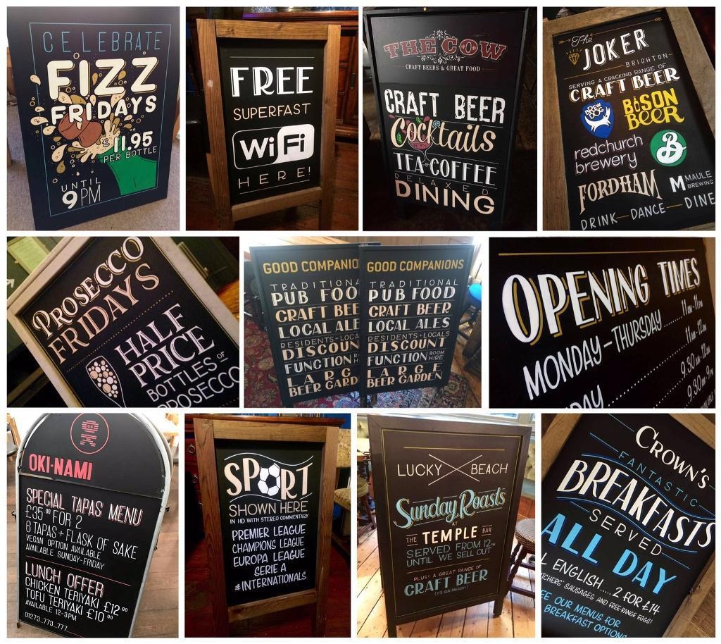 Chalkboard signage examples