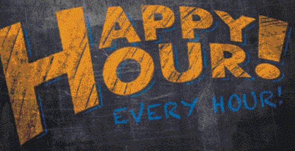 happy hour pub chalkboard