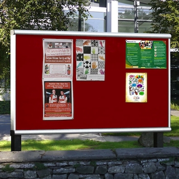 Communication for your community through outdoors notice pin boards