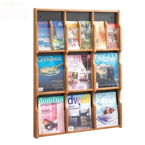 Wall mounted brochure stands