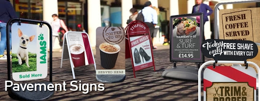 Red17's Popular Pavement Sign Range