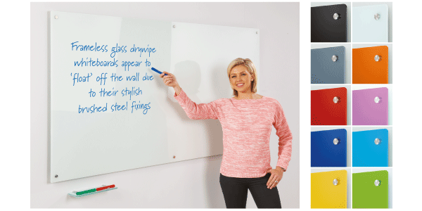 Colourful Glass Magnetic Whiteboards